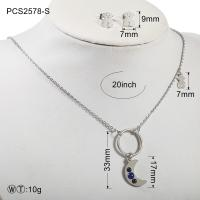 China 20g Stainless Steel Silver Plated Jewellery Set for Anniversary on sale