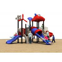 China Summber Carton House Theme Kids Outdoor Plastic Slide For Small Children Baby on sale