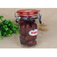 BPA Free Airtight Canister Clear Plastic Cylinder Bottle For Food / Sauce Storage Manufactures