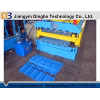 China Roof Panel Roll Tile Forming Machine with Pull Broach / PLC Control System Touch Screen on sale
