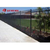 Heavy Duty 2 Rail40X40X2.5mm Wall Thick School Steel Garrison Fence Panel 1800mm High X 2400mm Wide Manufactures