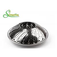 SS430 Collapsible Stainless Steel Steamer Basket Non Scratch For Food Cooking Manufactures