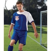 Rmoisture Wicking Mesh Cool Soccer Jerseys / Polyester 150gsm Sports Uniforms Manufactures