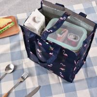 Fresh Keeping Insulated Cooler lunch Bag With Silk Screen Printing Manufactures