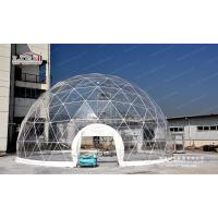 Flame Retardant Steel Structure Geodesic Dome Tent Wind Speed 100km/H Manufactures