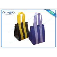 Custom Eco Promotional Long Handle PP Non Woven Garment Bag With Zipper Manufactures