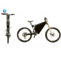 Black / White Motorized MTB Specialized Electric Mountain Bike 3000w For Ladies / Mens Manufactures