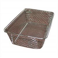 China Food grade Woven Wire Metal Wire Basket , Stainless Steel Wire Mesh Baskets on sale