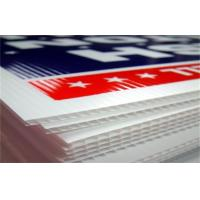 China Customized Coroplast Corrugated Plastic Sheets For Signs on sale