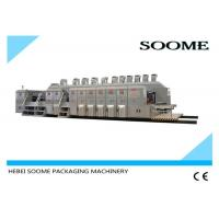 Printing Rotary Die Cutting Machine Full Computer Control For Corrugated Carton , CE Certification Manufactures