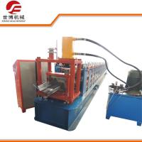 China Steel Frame C Channel Roll Forming Machine, Z Purlin Forming Machine For Structure Building on sale