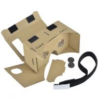 3D VR Virtual Reality Headset 3D Movie Game Glasses Adjust Cardboard VR BOX 2 . 0 Manufactures
