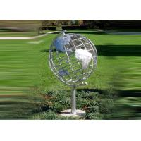 Decorative Stainless Steel Sculpture With Semi - Meridian Globe Shape Manufactures