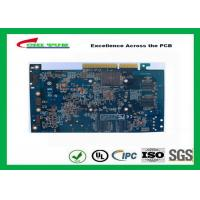 Computer Multilayer Circuit Board with OSP + Gold Finger Blue Solder Mask Manufactures