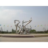 China Bicycle Riders Stainless Steel Sculpture for Park on sale