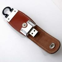 China Popular leather USB pen drive with different colours on sale