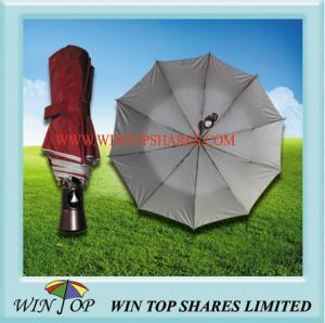 China 21 X 10 Ribs Nickel Plated Steel Folding Umbrella on sale