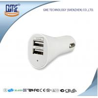 Universal USB Power Adapter 5V 2.1A / 2.4A Double USB Car Charger Manufactures