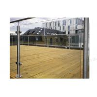 Terrace Glass Balustrade Stainless Steel Handrail Manufactures