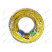China SC - SC Fiber Optic Jumper / 24 Core Fiber Optic Cable Yellow Color Humidity ≤0.2dB on sale