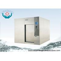 High Performance Sliding Door Large Steam Sterilizer With Overpressure Relief Valve Manufactures