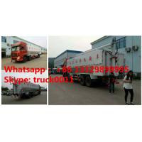 Dongfeng 8*4 40m3 hydraulic discharging poultry feed truck for sale, factory sale best price 20tons animal feed truck Manufactures