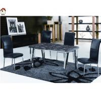 luxury stainless steel legs marble dining room table T794 Manufactures