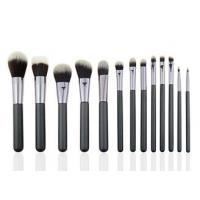 China White And Brown Professional Makeup Brush Set For Facial And Eye Makeup on sale