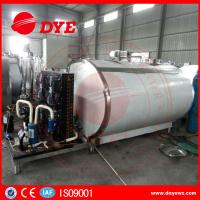Horizontal 200L Stainless Milk Cooling Tank Trailer Safety Prevents Bacteria From DYE Manufactures