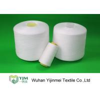 Dyed Color / Bleached White Spun Polyester Thread For Sewing Garment Manufactures
