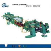High Speed Sheet Roof Metal Slitting Line / PLC Control Stainless Steel Slitting Machine Manufactures