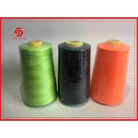 Colored High Stretch Polyester Ring Spun Polyester Thread  For Sewing Machine