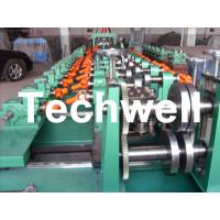 Auto Size Changeable C Z Shaped Purlin Roll Forming Machine With Gimbal Gearbox Drive Manufactures