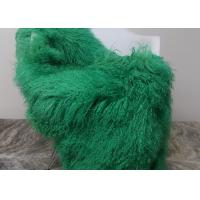 Luxury Soft Dyed Mongolian Sheepskin Rug For Bed Sofa Decorative Throw Blankets  Manufactures