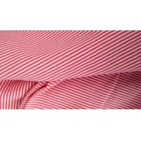 T - Shirt  Horizontal Striped Fabric , 100% Cotton Pique Red And White Striped Fabric Manufactures