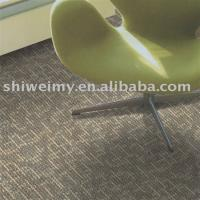 Green rib pattern polypropylene carpet tile with free sample Manufactures