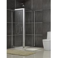 Aluminum Alloy Square Shower Enclosures Swing Pivot Doors Tempered Glass for Home / Hotel Manufactures