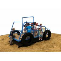 Anti Skid Capacity 10 Kids Playground Spring Rocker With Jeep Shape Manufactures