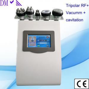 5 in 1 ultrasonic cavitation liposuction machine tripolar rf skin tightening six polar rf vacuum body slimming machine Manufactures