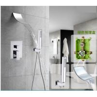 Space Saving Waterfall Shower Faucet , Shower Faucet Set With Hand Shower Spray Manufactures