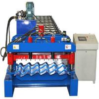 4kw Glazed Tile Roll Forming Machine , Hydraulic Cutting Tile Making Machine Manufactures