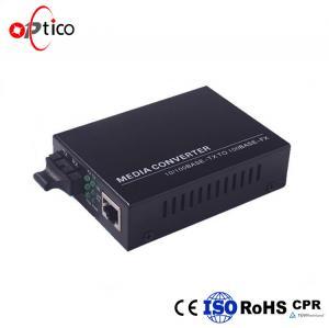 Buy cheap Multi Mode Black SFP Optical Transceiver / Optical Fiber Media Converter Single from wholesalers