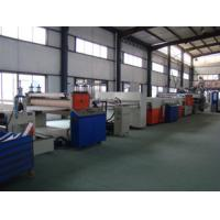 Hollow Cross Section Plate Plastic Sheet Making Machine / Plastic Sheet Extruders Manufactures