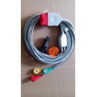 China Compatible Bionet 3 lead ECG cable with snap end, IEC, for BM5, red connector on sale