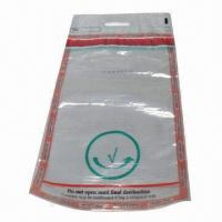 Clear Security Tamper-evident Bag with Tamper-evident Tape, Used in Airport Manufactures