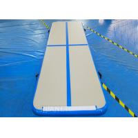 Practical Inflatable Air Track Mat 3 X 1 X 0.1 M Electric Air Pump With Velcro