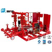 Ductile Cast Iron Diesel Fire Pump Package 100PSI UL/FM/NFPA20 Listed Manufactures