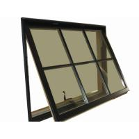 1.2mm - 1.4mm profile thickness gray aluminum awning windows for hospital, school Manufactures
