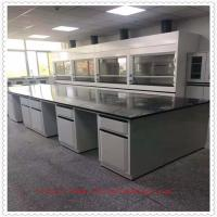 Fireproof Laboratory Workbench Furniture / Chemical Resistant Lab Tables Manufactures