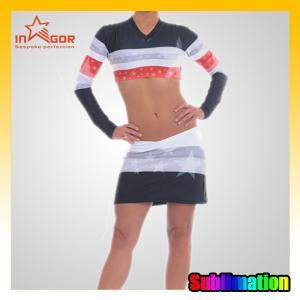 Full Sublimation College Cheerleading Uniforms Girls Cheerleader Costume Manufactures